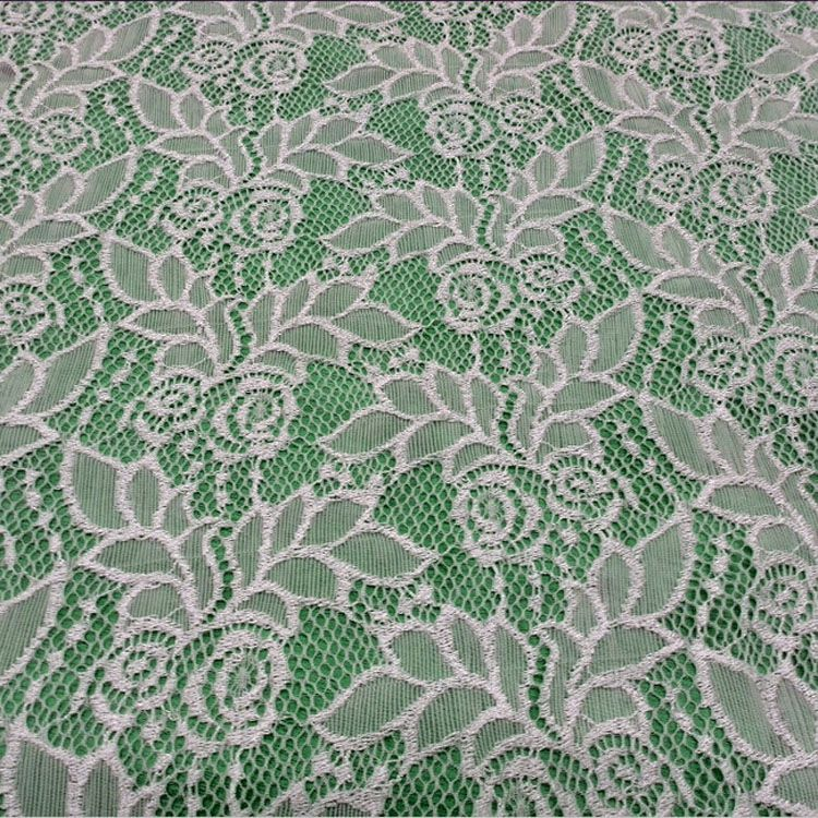 Tianhua newest design for apparel material width 1.5 meters strech lace fabric 8881