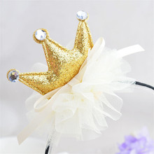 Korean fashion kids hair accessories piece crown style with rhinestone pageant children's day performance accessories AHB231