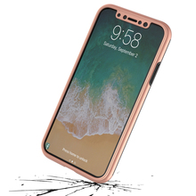 Plastic Pc Case 360 Full Cover For Iphone 8 /7 /6 For Iphone X With Screen Protector