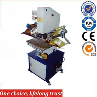 TJ-9 plastic bottle caps flat surface hot stamping machine