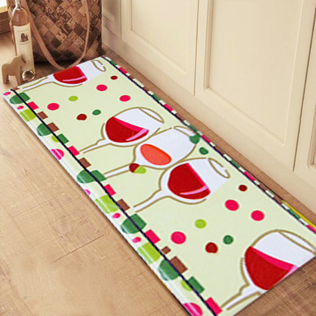 Flannel Coral Fleece Plush Rugs Carpets Soft Comfort Memory Foam Kitchen Floor Mats