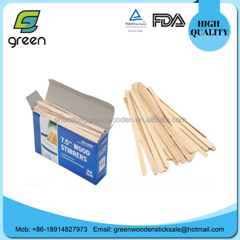 AAAAA+Factory wooden custom flavored coffee stirrers/drink stirrers