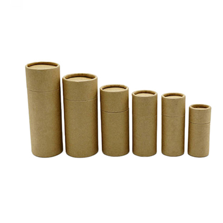 Shockproof Cylinder Round Craft Cardboard Packaging Gift Kraft Paper Tube For Tea