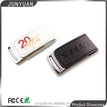 promotion gift leather usb flash drive