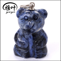 China Factory Manufacturer OEM Productions for Gemstones Pendants Bear Carved