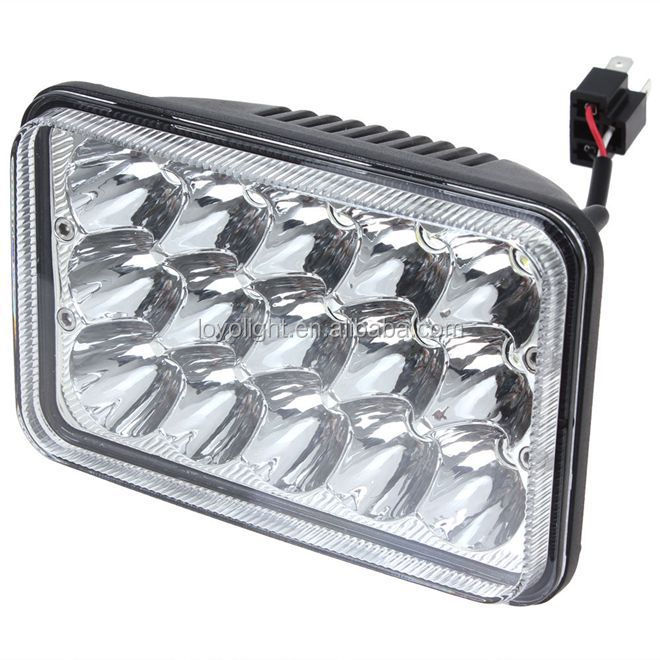 5 inch 45w round sealed beam headlight 4x6 high low beam for truck, offroad lighting
