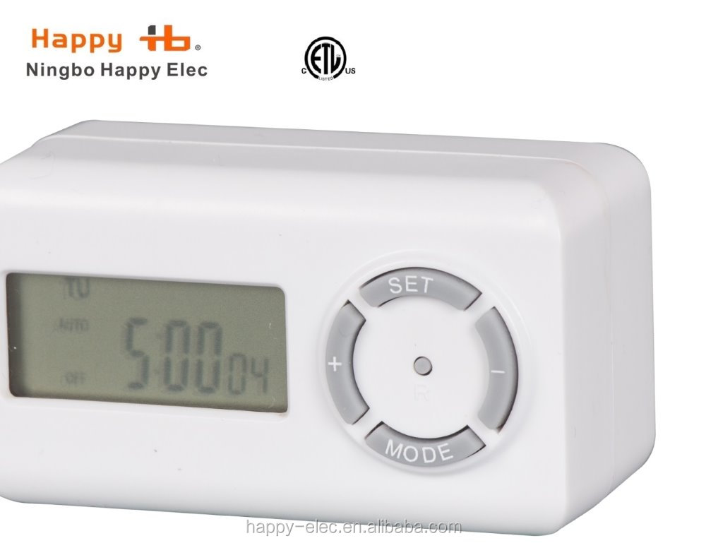 US America 120Vac 60Hz white,indoor programmable timer, 1-outlet weekly digital timer,electrical timer switch