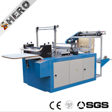 heat sealing cold cutting bag making machine with online handle attach