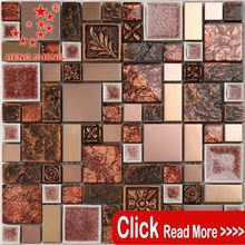 Latest Designs Italian Wall Decoration Crystal Glass Backsplash Mosaic