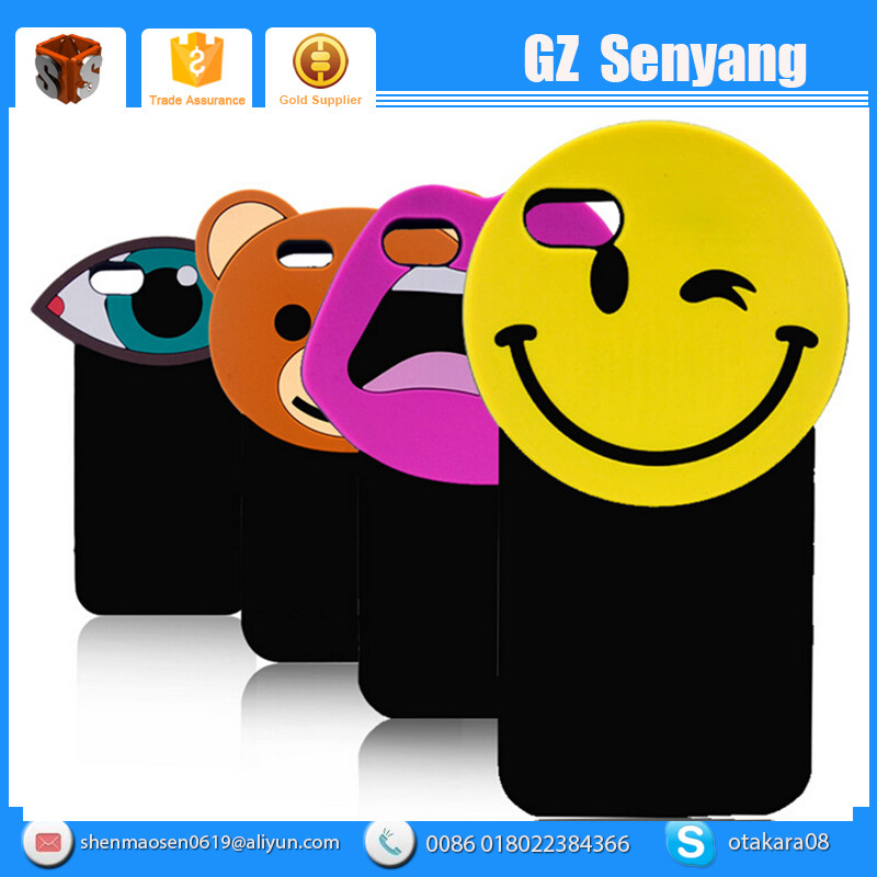Popular korea 3D Cartoon Smile Face Soft Silicon Phone Cases Cover For Iphone 6
