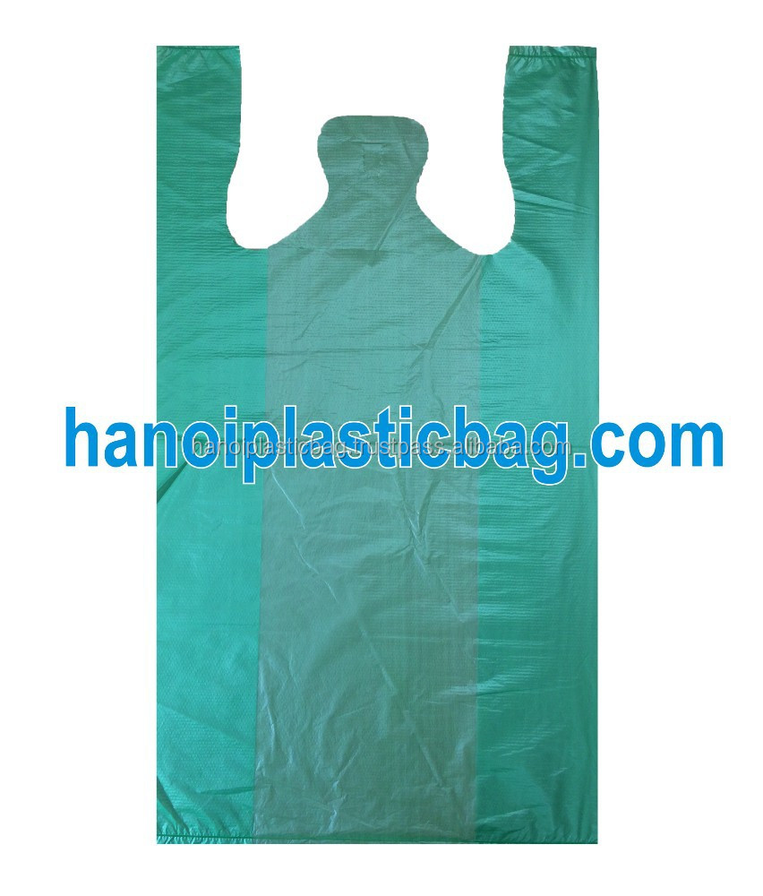 cheap price biodegradable HDPE plastic grocery bags in high quality