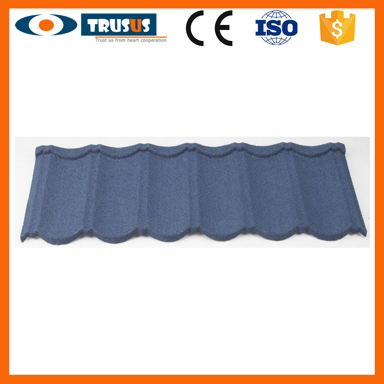 High Quality Aluminum Zinc Plate Colorful Stone Coated Metal Roofing Tile