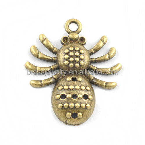 Hot Selling Antique Bronze Plated Alloy Spider Pendant Jewelry