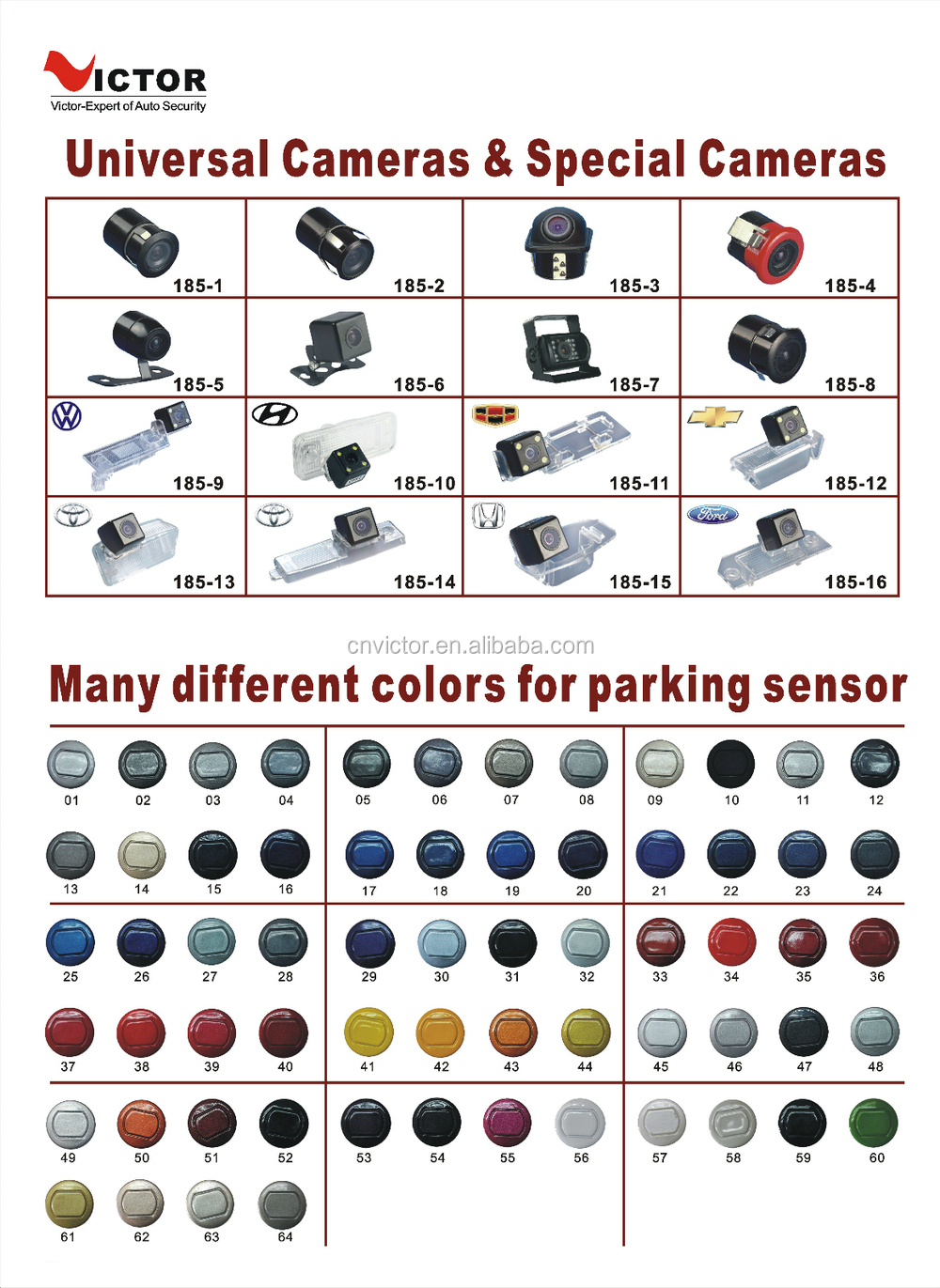 Vehicle Digital LED dsplay Parking Sensor with 2 to 8 sensors VT-1128