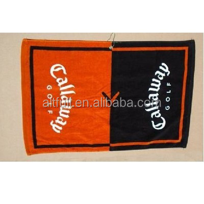 Top Selling Microfiber Merbau Golf Towel/Clothes , Home,Hotel,Sports,Gift Use and Woven Towels Cotton Promotional Golf Towel ,
