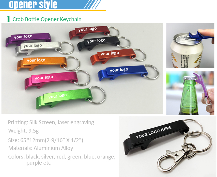 Custom high quality Easy to use bottle opener laser logo