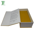 Printing Custom Logo Luxury White Cardboard Perfume Paper Book Shape Box