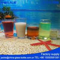 RJ Ce Certified Murano Small Rum Thin Amber Blue Green Glass Brown Glass Cup Supplier Sweets Candles Crafts Uk Pepper