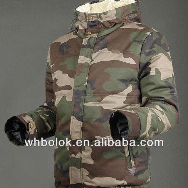 Custom destin quilted men's jacket blazer with hood camouflage winter camo blazer