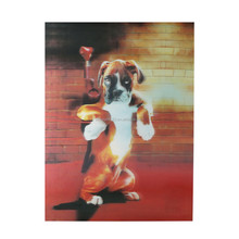 Modern style wall decoration painting of cute dog