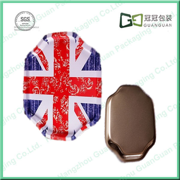 Recyclable Feature Material Tin Box Manufacturer Tin Custom Decorative Round Metal Tray