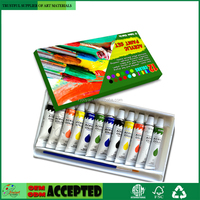 Acrylic Paint Set 12 x 12ml Heavy Body Colors for Painting Canvas, Wood, Clay, Fabric, Nail Art, Ceramic & Crafts