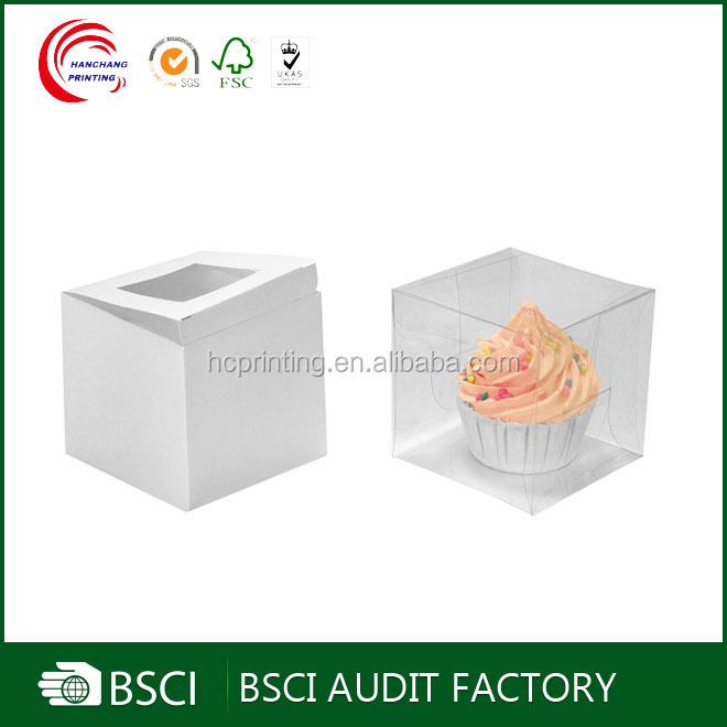 Custom Plain clear plastic cupcake boxes