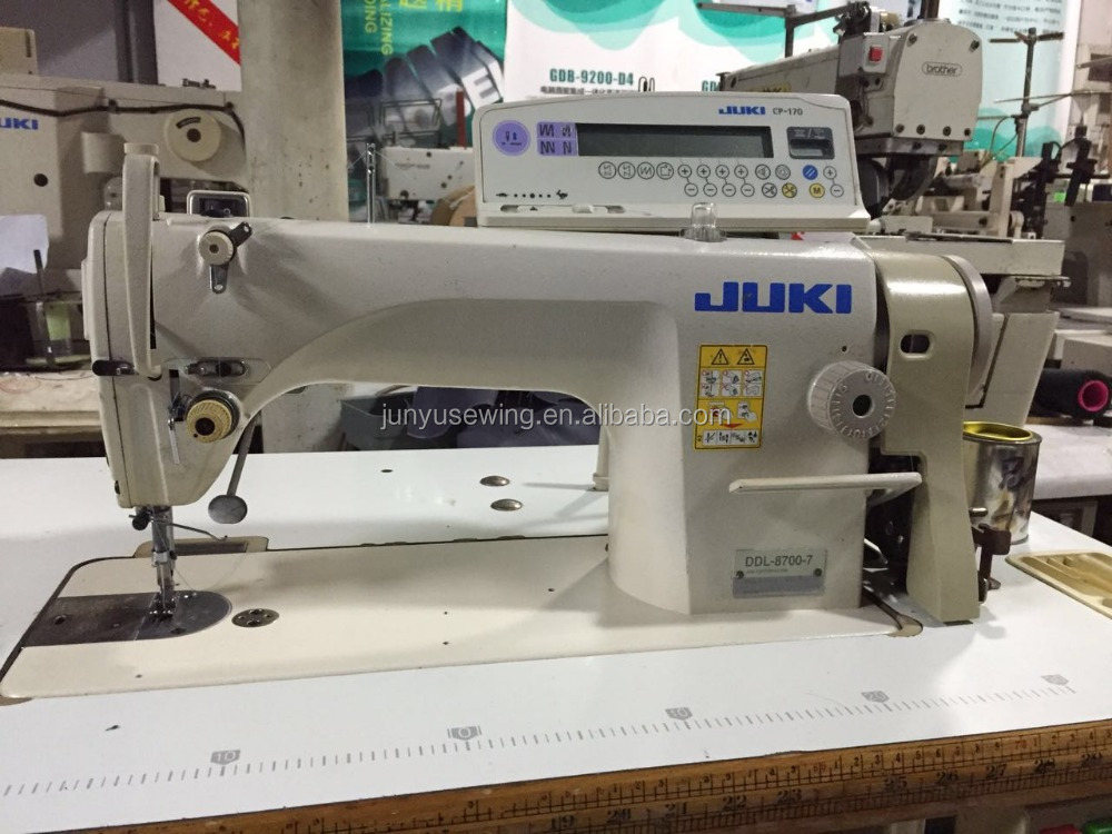 used good condition japan JUKI 8700-7 computer controlled industrial sewing machine
