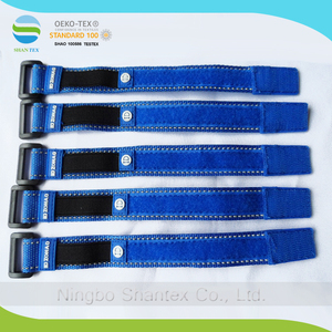 25mm*300mm Sport Wrist Band Hook And Loop Strap With Customized Rubber label