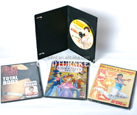 dvd9 disc in 14mm black single dvd case package