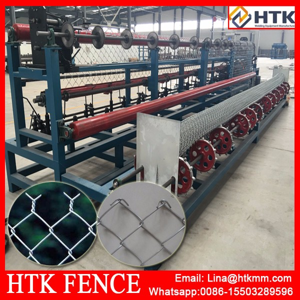 Hot Selling Chain Link Fence Machine/Wire Mesh Fence Weaving Machine/China Factory