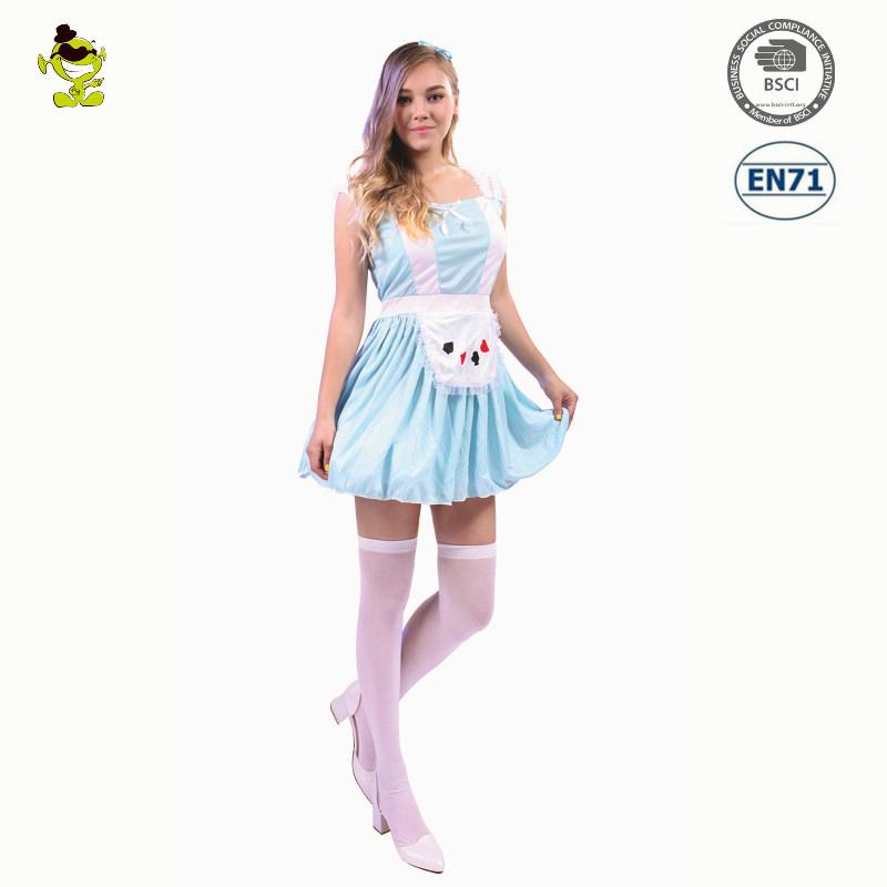 Halloween maid kleid Alice Wunderland Poker Prinzessin erwachsene ...