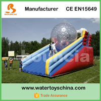 Durable PVC Tarpaulin Inflatable Zorb Ball Slope For Sale