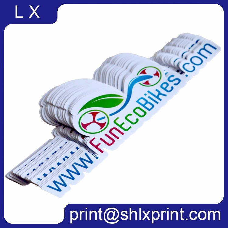 Printed Adhesive Rectangle Label Sticker Glossy Lamination, Die Cut Sticker, Oval Label Sticker