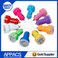 Colorful 2.1A Universal Mini Dual USB Car Charger for iphone and samsung