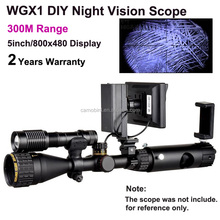 Newest Product IR Infrared Night Vision Scope with 5w Laser Torch for Night Hunting Scope 300M Range