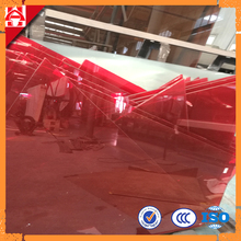 Red Laminated Glass PVB film , Red PVB Film Laminated Glass