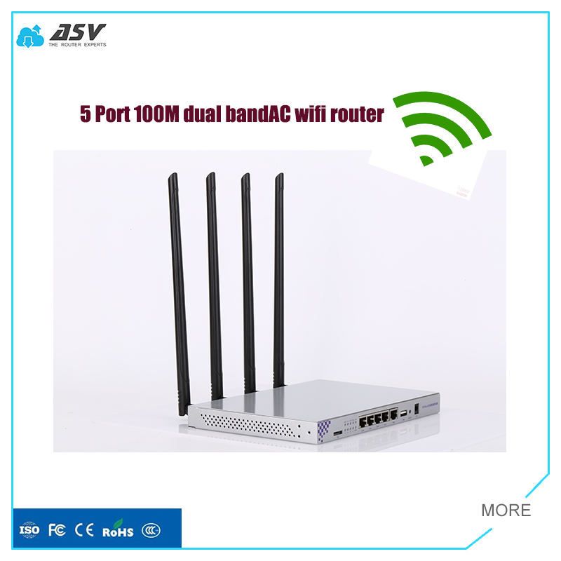 Supperority quality high power 1200Mbps dual band 4G Openwrt wireless router