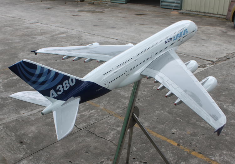 customized 120cm A380 aircraft model/plane model/customized A380 120cm aircraft plane model