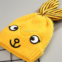 Lovely Winter outdoor warm thickened Baby Knit Hat with two cute bunny ears Baby Crochet Hat