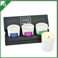 Bulk Scented Soy Candle Set with 3 pcs Votive Soy Candles