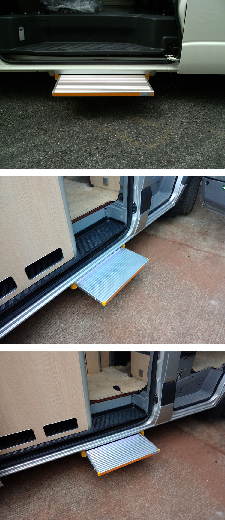 12V/24V Universal Aluminum Electric Sliding Step for vans and vehicle