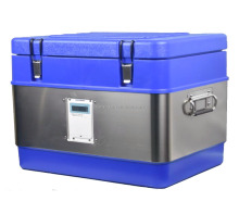 50L 72hrs Stainless steel Plastic Cold Chain multipurpose PP/PU Cooler with thermometer and recorder