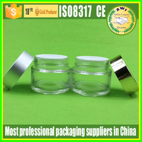 cosmetic jars recycled glass bottle skin care packaging 100ml 200ml jar