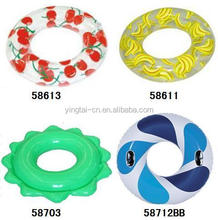 Accepted customize adult inflatable swim ring white