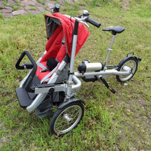 electric aluminum alloy mother baby stroller bike
