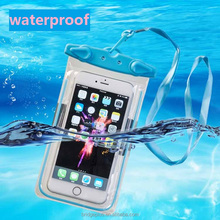Wholesale high quality IPX8 luminous waterproof cell phone bag