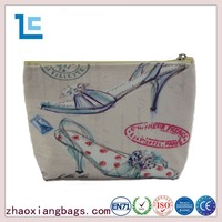 Zhaoxiang fashion korean contents wholesale canvas cosmetic bag
