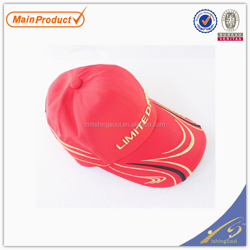 FSCP007 cheap import fishing tackle caps fitted fishing cap hat