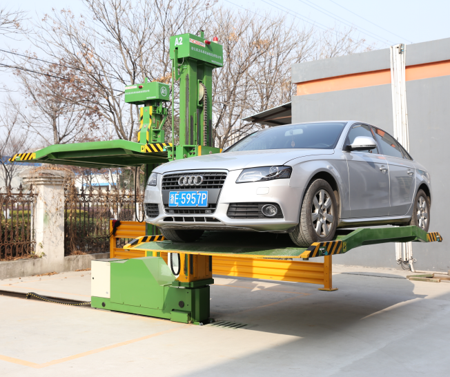 Rotating No Collision Avoidance Car Parking System